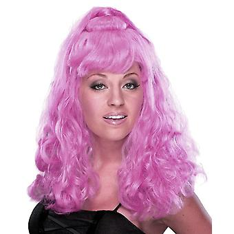 Spicy Girl Dark Violet Ponytail Party Costume Women Wig