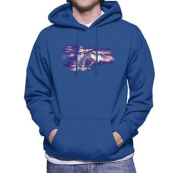 Freddie Mercury Of Queen Its A Hard Life Shoot 1984 Purple Flare Men's Hooded Sweatshirt