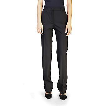 Prada Women's Virgin wol slanke rechte broek zwart
