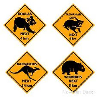 Australische Outback Road Sign Knipsels