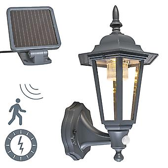QAZQA wand Lamp New York Solar LED donkergrijs
