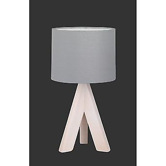 Trio Lighting Ging Modern Wood Coloured Natural Wood Table Lamp