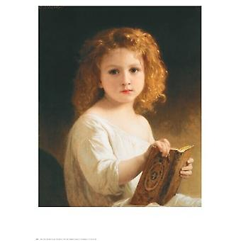 The Story Book Poster Print by William-Adolphe Bouguereau (24 x 30)