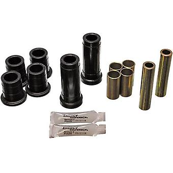 Energy Suspension 4.3111G Control Arm Bushing Set; Black; Front; Must Reuse Existing Outer Metal Shells; Performance Pol
