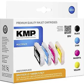 KMP Ink replaced Brother LC-1000 Compatible Set Bl