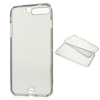 Crystal Case cover for Apple iPhone 8 plus grå ramme hele kroppen