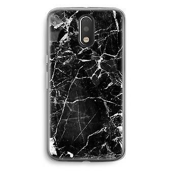 Motorola Moto G4/G4 Plus Transparent Case - Black Marble 2