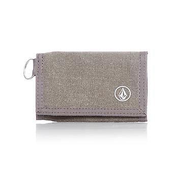 Volcom Charcoal Heather voller Stein Tuch Velcro Wallet