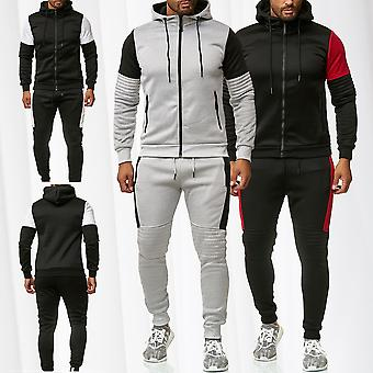Men's tracksuit set Hoodie Zip tracksuit pants fitness suit Sport Stripes MIAMI