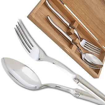 Prestige range Laguiole server set polished finish Direct from France