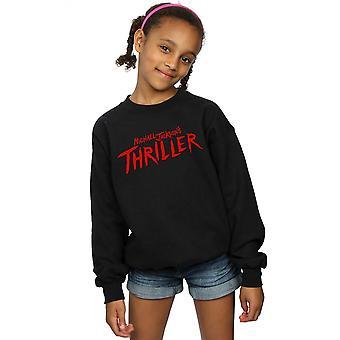 Michael Jackson Girls Thriller Logo Sweatshirt