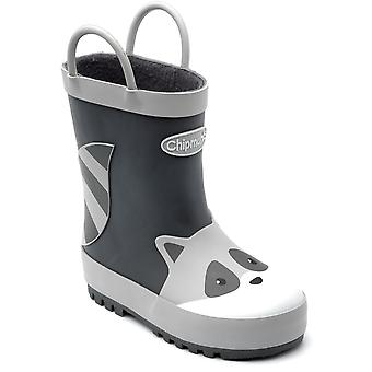 Chipmunks Boys River Wellingtons Grey