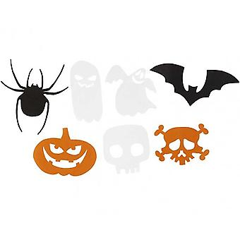 50 Halloween Card Shapes for Crafts - 50mm to 100mm | Kids Halloween Crafts