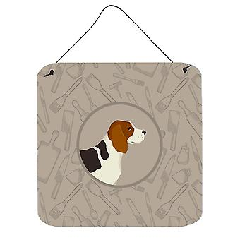 Beagle In the Kitchen Wall or Door Hanging Prints
