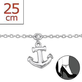 Anchor - 925 Sterling Silver Anklets - W28357x