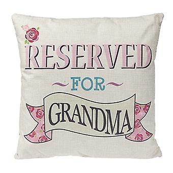 Square Reserved For Grandma Cushion Hessian Vintage Style Christmas Gift Nan