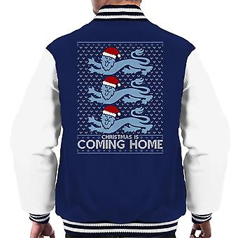 Christmas Is Coming Home The Lions England Football Men's Varsity Jacket