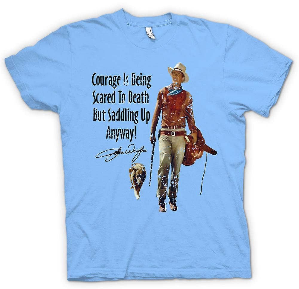 Camiseta para hombre - John Wayne valor - vaquero occidental