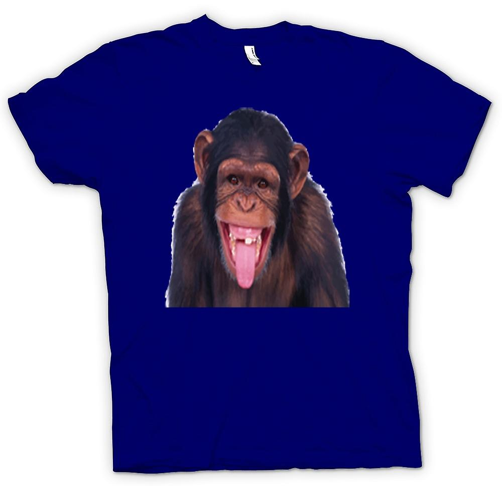 Heren T-shirt-brutale Chimp Funny Face