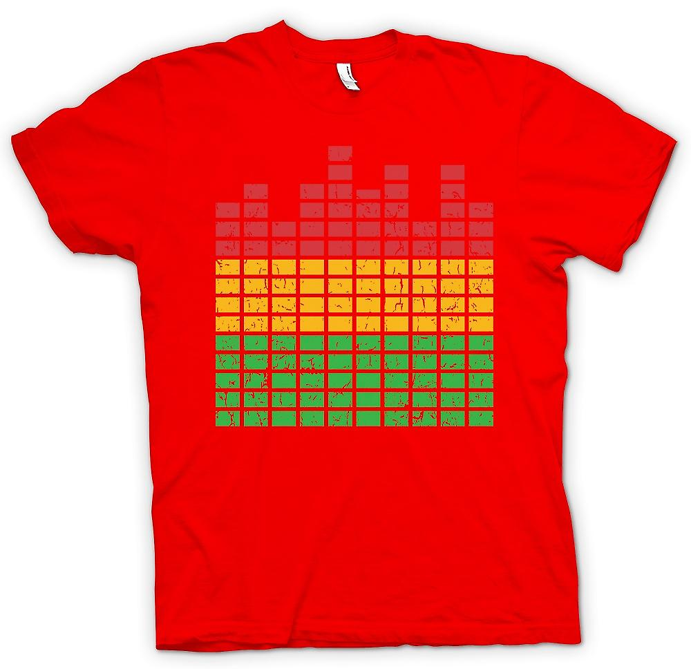 Mens T-shirt - grafischer Equalizer - DJ