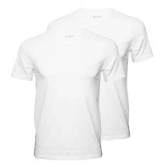 Boss 2-Pack Relaxed-Fit V-Neck T-Shirts, White