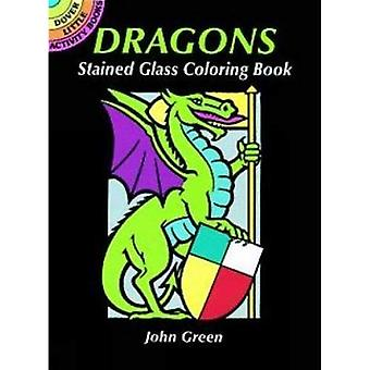 Dragons Stained Glass Coloring Book