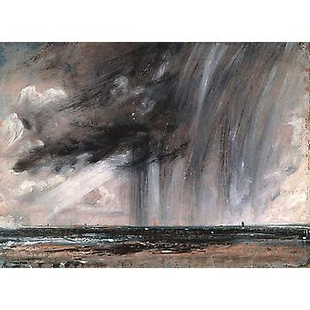 Rainstorm over the sea,John Constable,50x36cm