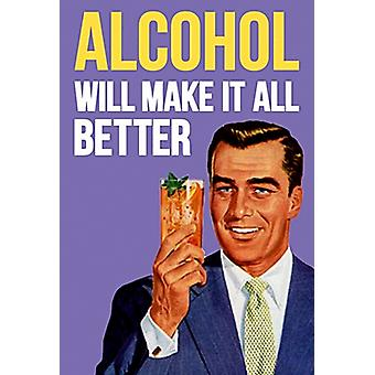 Alcohol Will... funny fridge magnet  (dm)