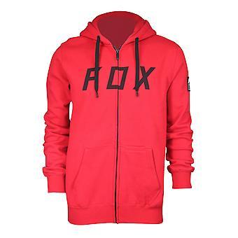 Fox Racing Mens District 2 Zip Fleece Hoodie - Dark Red