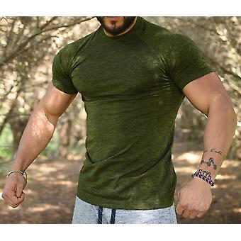 Jerf-mens - Forio - Green Melange - Active Tee Shirt