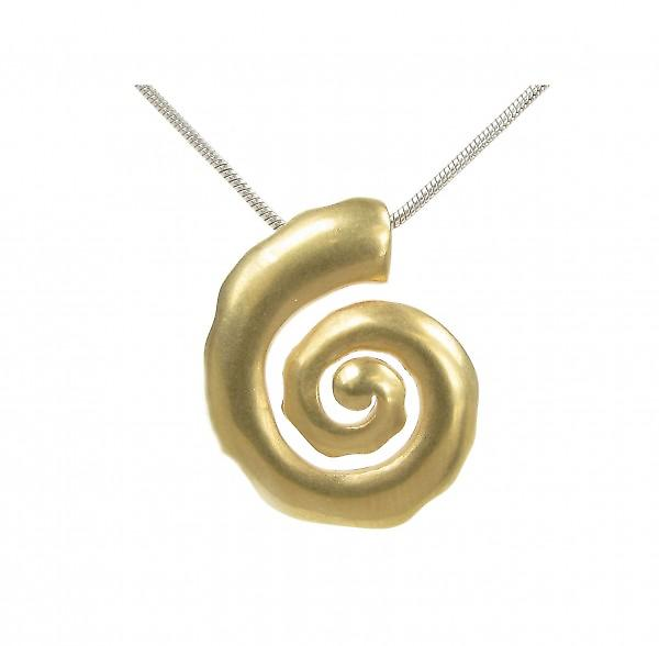 Cavendish French Silver and gold vermeil spiral pendant