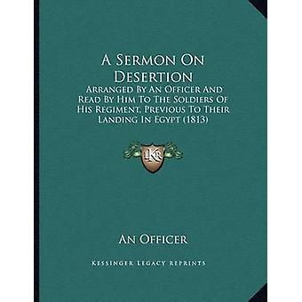 A Sermon on Desertion - Arranged by an Officer and Read by Him to the