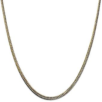 18k Gold plated Flat Franco Chain 2.4mm