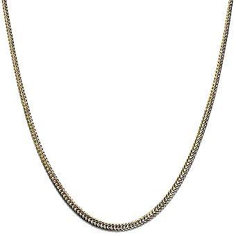 18 kt guld belagte flad Franco Box kæden 2,4 mm