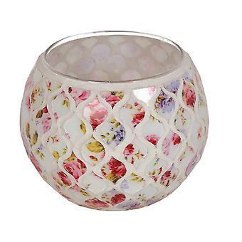 Straits Floral Globe Teelicht Halter, rot