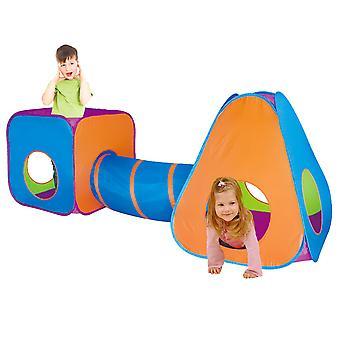 Charles Bentley Children's 3 in 1 Adventure Indoor Outdoor Pop Up Play Tent Set