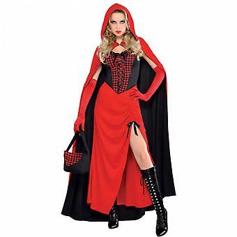 Donna equitazione Hood Incantatrice Costume Per adulti