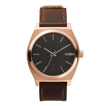 Nixon Time Teller Rose Gold / Gunmetal / Braun (A0452001)