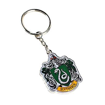 Harry Potter Keyring Keychain Slytherin House Crest Emblem new Official Metal