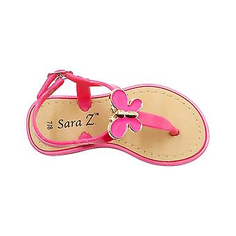 Sara Z Toddler Girls Jelly Thong Sandals avec et Enamel Flower