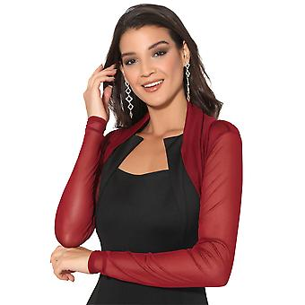 KRISP  Ruched Shrug Bolero Cardigan Mesh Lace Short Cropped Top
