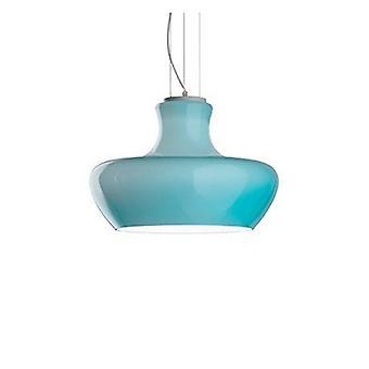 1 Lumière Grand Dome Plafond Pendant Bleu