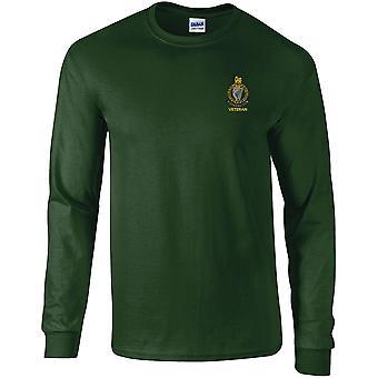 Queens Royal Ierse Hussars veteraan-gelicentieerd Britse leger geborduurd lange mouwen T-shirt