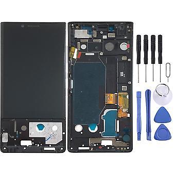 Para Blackberry KeyTwo exibir Full LCD unidade de toque peça de reposição de reparação com moldura preta nova