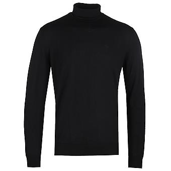 Emporio Armani Black Roll Neck Knit Sweater