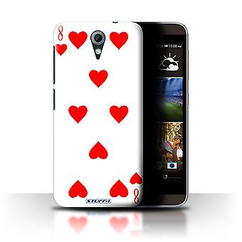 STUFF4 Case/Cover for HTC Desire 820 Mini/8 of Hearts/Playing Cards