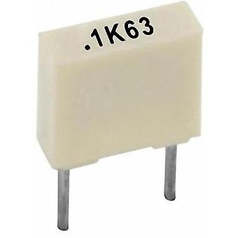 PET capacitor Radial lead 1 µF 63 V 10 % 5 mm (L x W x H) 7.2 x 5 x 10 Kemet R82DC4100AA60K+ 1 pc(s)