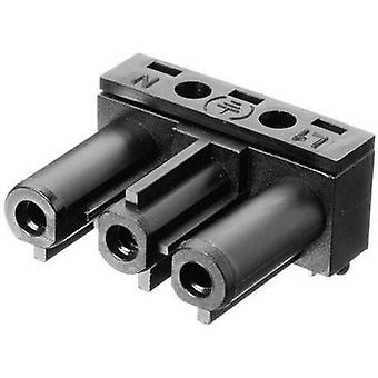 Mains connector ATT.LOV.SERIES_POWERCONNECTORS AC Socket, right angle Total number of pins: 2 + PE 16 A Black Adels-Con