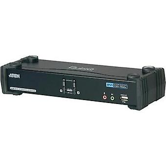 2 ports KVM changeover switch DVI USB 2560 x 1600 pix CS1782A-AT-G ATEN