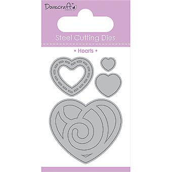 Dovecraft Value Die-Heart Mixture, 4/Pkg DCDIE042